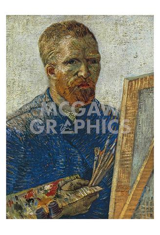 Vince van Gogh - Self Potrrait in Front of Easel