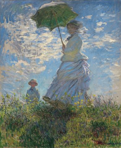 Claude Monet - Woman with a Parasol, 1875